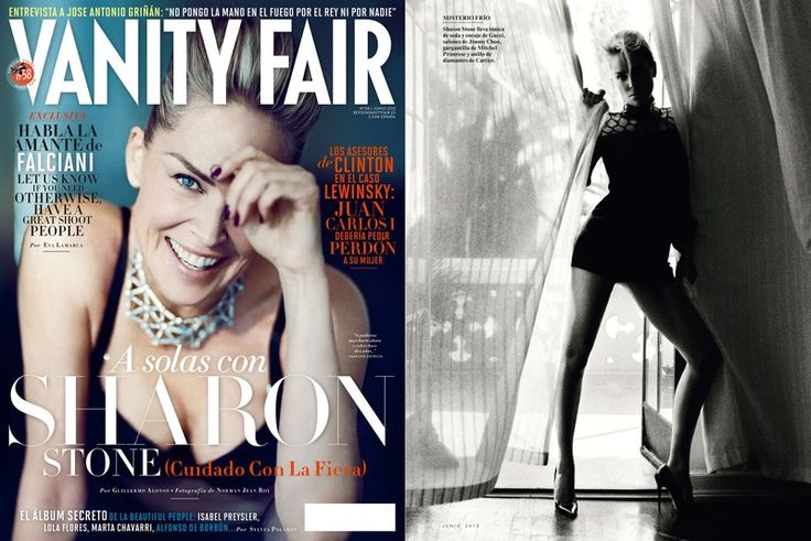 Mitchel Primrose Editorials - Vanity Fair with Sharon Stone: featuring our spider choker