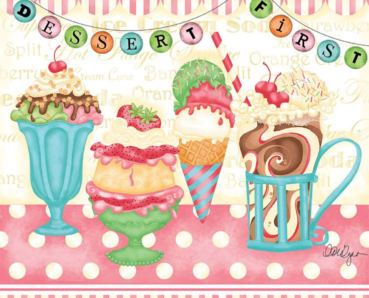 Lang August 2015 Wallpaper Love To Cook Sweets Art Colorful Drawings Ice Cream Art
