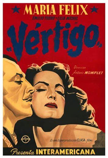 Retro Mexico: Argentinian movie poster for the Mexican film Vertigo, 1944