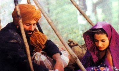 Sunny Deol and Ameesha Patel from Gadar: Ek Prem Katha http://leojpeo.blogspot.in/2012/06/bollywood-stereotypes.html