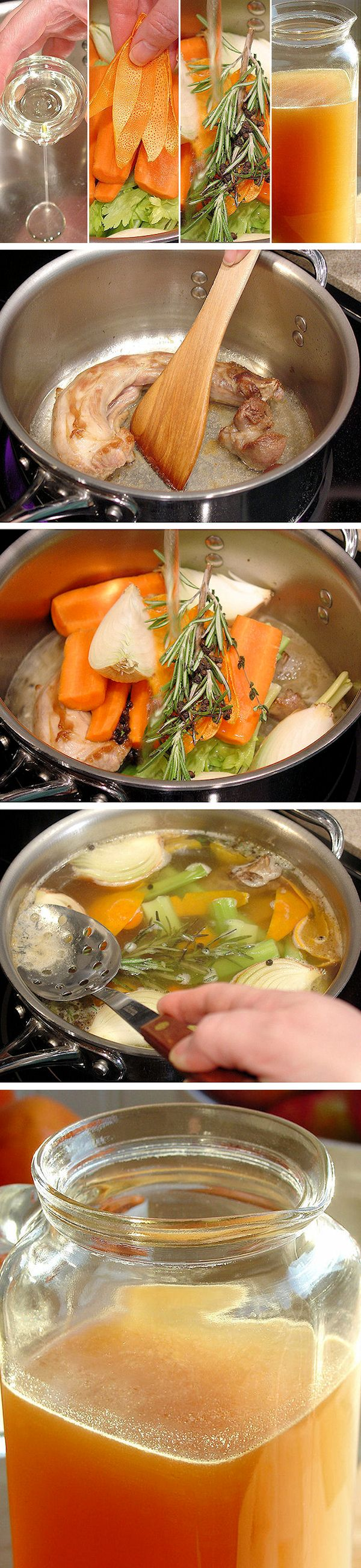 TURKEY STOCK 101: Step-by-Step Tutorial with Photos & Instructions plus 10 Tips for Making Stock ~ Simply the BEST recipe! Perfect for #Thanksgiving and #Christmas #Holidays, our homemade stock with bright flavor notes gives an unbeatable rich turkey flavor to homemade gravy and stuffing. BONUS: Includes Recipe for Day-After Turkey Stock and How To Make Homemade Bouillon.