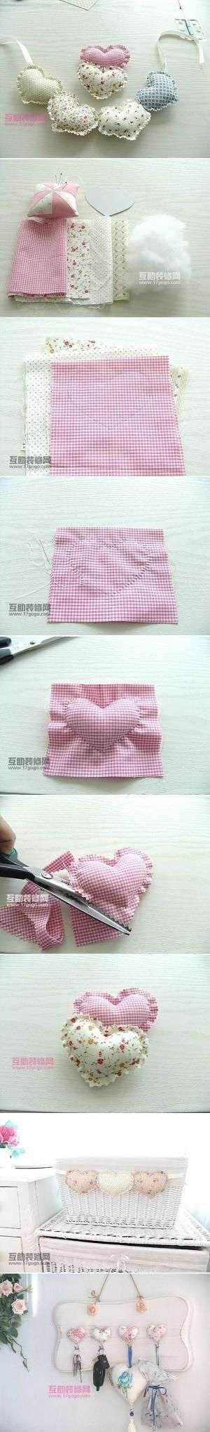 DIY Fabric Heart Pendant by tiquis-miquis