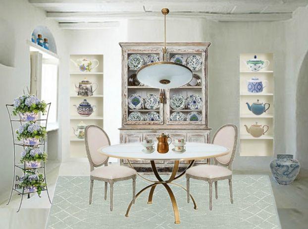 La collezione di teiere collage virtuale di Mirella Parer