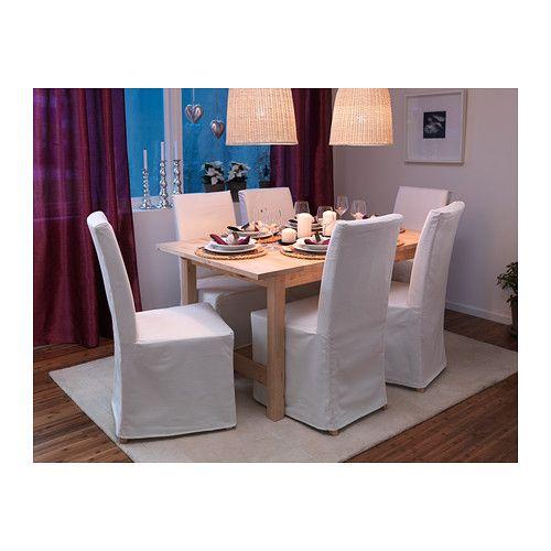 NORDEN Ausziehtisch IKEA Ausziehbarer Esstisch mit 1 Zusatzplatte; bietet Platz für 4-6 Personen. Größe des Tisches je nach Bedarf anpassbar...
