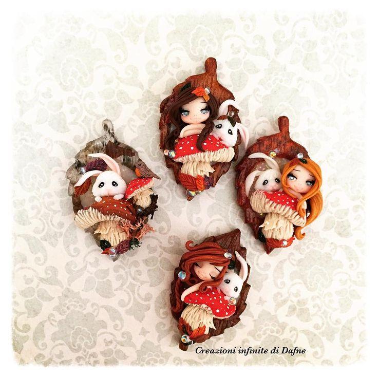 #available#etsy#etsyseller#sale#polymerclay#fimodoll#kawaii#lovehandmade#handmade#creazioniinfinitedidafne#leaf#autum #pendant#rabbit#dollartree  https://www.etsy.com/it/listing/245805738/ooak-necklace-fairy-autumn https://www.etsy.com
