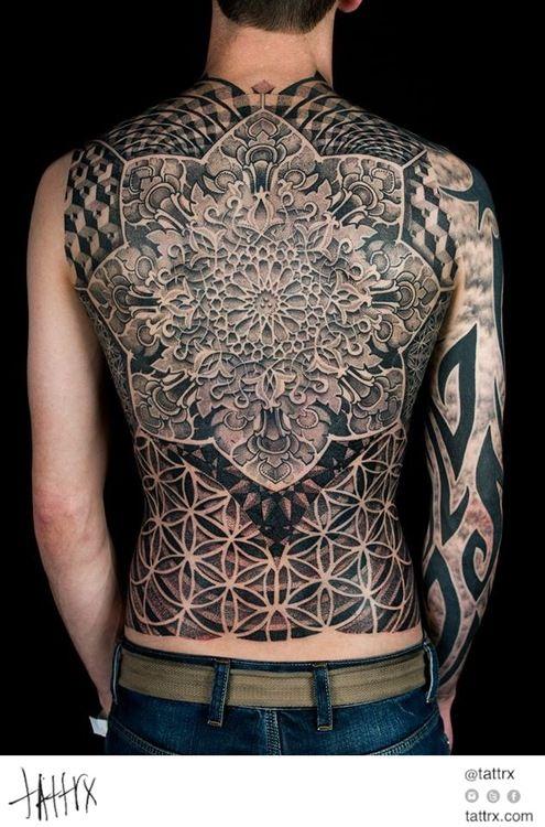 When Did Geometry Tattoos Start: Dotwork Damian - Full Back Sacred Geometry