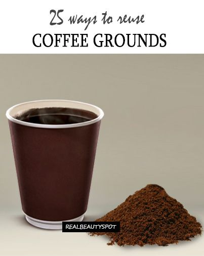 25 Genius Ways To Recycle Used Coffee Grounds Gardens Homemade And On