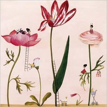 friends in flowers by silke leffler