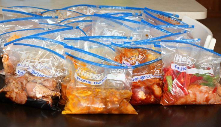Crockpot Slow Cooker Freezer Cooking - 40 meals in 4 hours