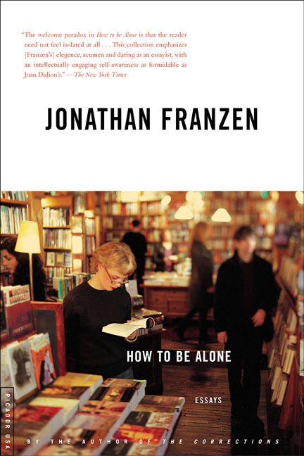 "Lindsay is reading Jonathan Franzen's ""How to be Alone"""