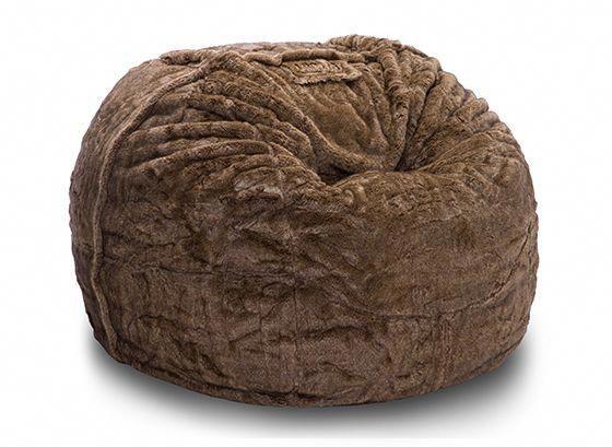 mushroom bean bag chair living room and ottoman lovesac suede chairs brown bagchairs
