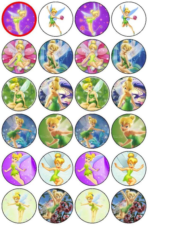 24 Tinkerbell Fairy Cake Cupcake Toppers  EBay cakepins.com