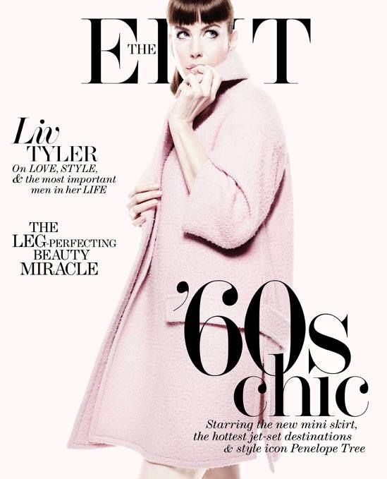 Liv Tyler for The Edit 11 July 2013 | Magazine Cover: Graphic Design, Typography, Photography | Photo: Miguel Reveriego |