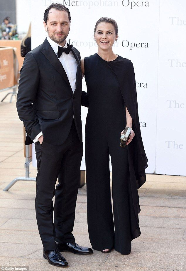 So in love: Keri Russell and her longtime partner Matthew Rhys coordinated in black and white for the Met Opera in New York City on Monday
