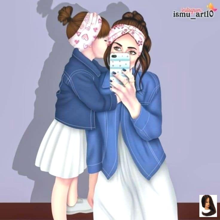 Mom And Baby Anime Notitle Con Imagenes Diseno Madre E Hija