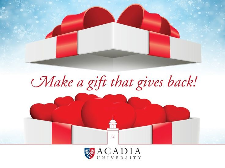 You already know that it's better to give than to receive. Instead of shopping for things in the last days of 2017, why not give a gift that gives back? No matter the amount, or the area of need you support, a contribution from you will send a message to our students that, like you, they are an essential member of the #AcadiaU family. http://qoo.ly/k9xam #AcadiaUGives