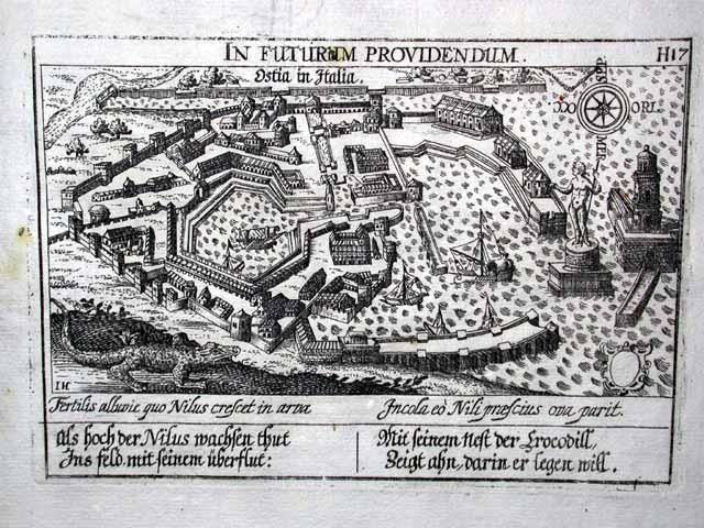 A 17th century engraving of Portus