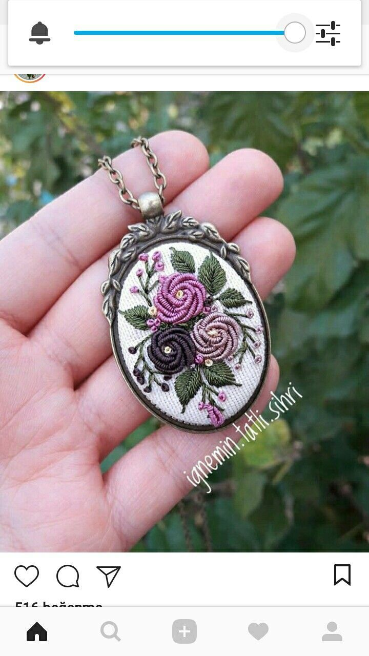 #rose hand embroidery brooch