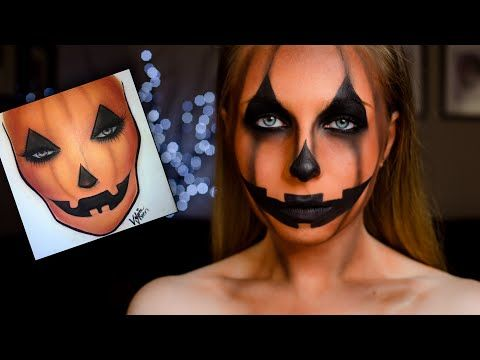 Makeup viso da zucca halloween tutorial - VideoTrucco