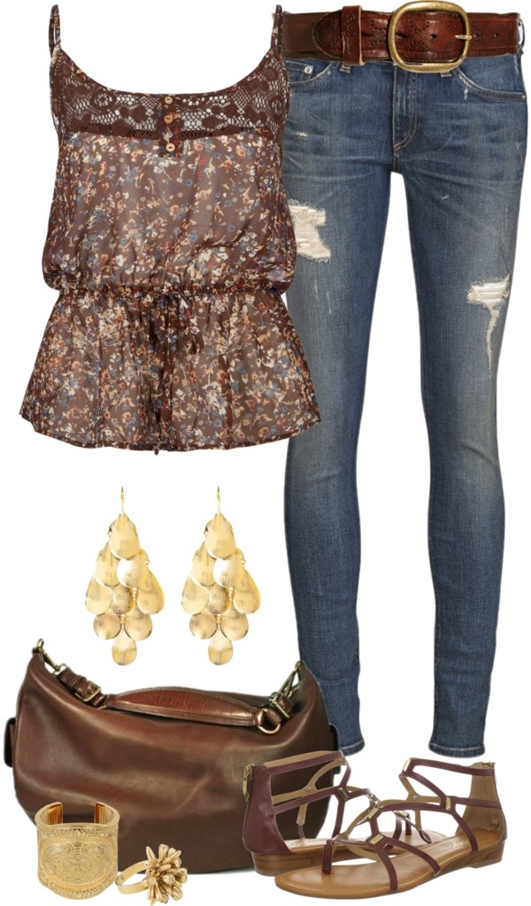 """""""Casual Spring Browns"""" by angela-windsor on Polyvore"""