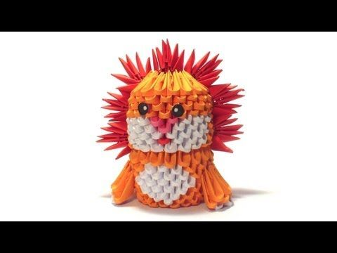 3d origami lion tutorial - YouTube