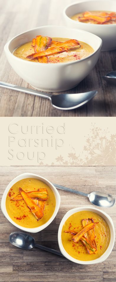 Roasted Curried Parsnip Soup Recipe: Roasting the Parsnips in this curried parsnip soup give a depth to the sweetness of the parsnip that marries perfectly with the mild curry flavours!