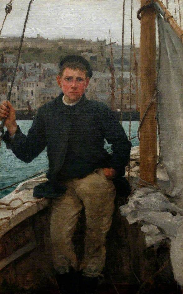 'Our Jack', 1886 - by Henry Scott Tuke | oil on canvas | The Tuke Collection, Royal Cornwall Polytechnic Society.