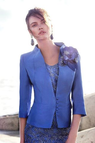 This royal blue two piece mother of the bride dress can be customized however you want.  The 3/4 sleeve jacket can be made with long sleeves to the wrist. The skirt can be knee length or to the floor.  We are in the US and offer women inexpensive options for #motherofthebride evening dresses.  To see more options for dresses for the mothers of the wedding please go to http://www.dariuscordell.com/product-category/mother-of-the-bride-dresses/