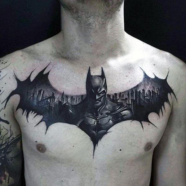 chest-batman-tattoo
