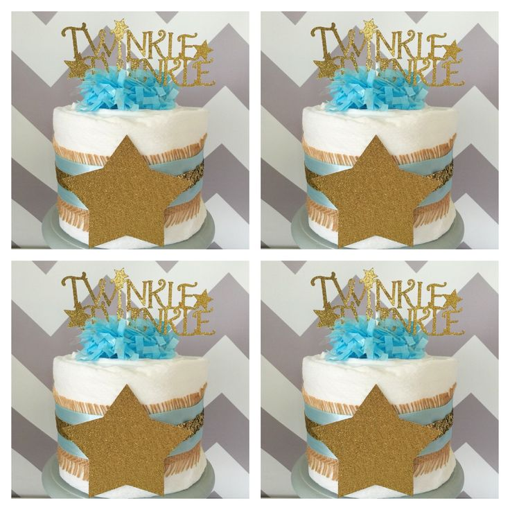 Find This Pin And More On Twinkle Twinkle Little Star Baby Shower Ideas By  Alldiapercakes.