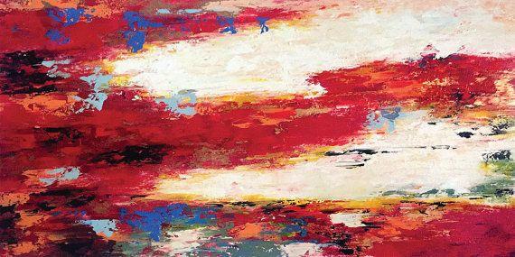 Flateyri  72 x 36 Inches Acrylic Abstract by acasaARTstudio