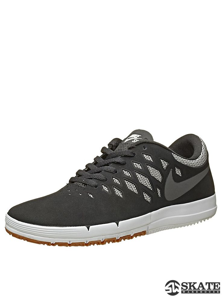 Nike SB Free Shoes Black/Dark Grey/White