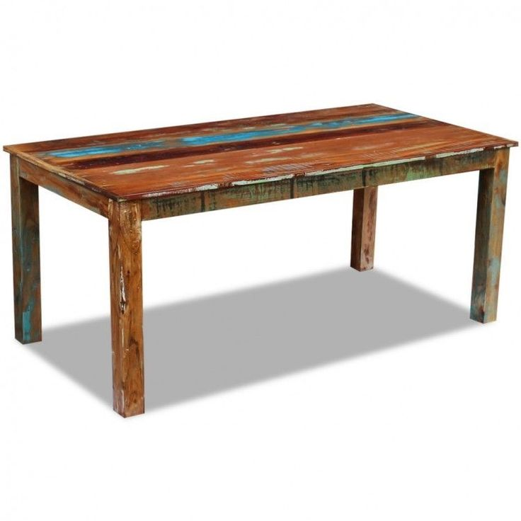 Retro Dining Table Vintage Style Reclaimed Wooden Kitchen Room Furniture Home #RetroDiningTable #AntiqueStyle