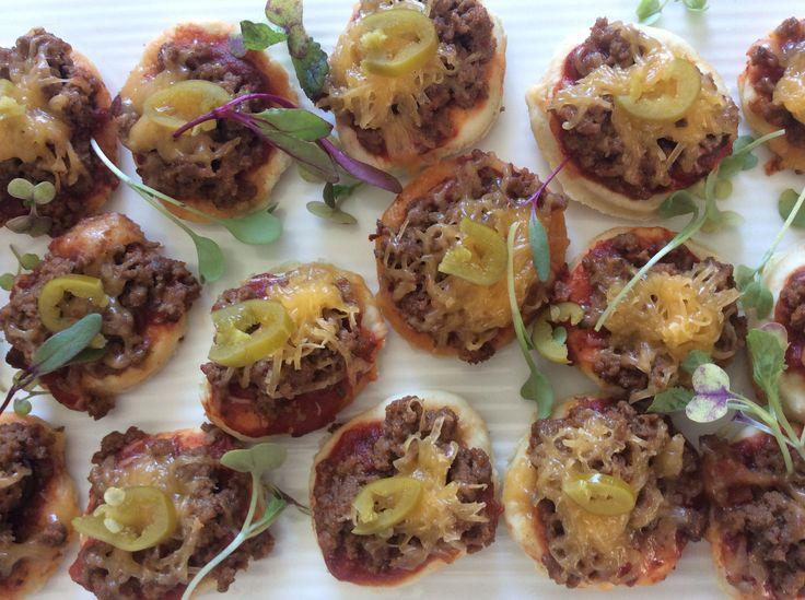 Mini Beef Mexican Pizza