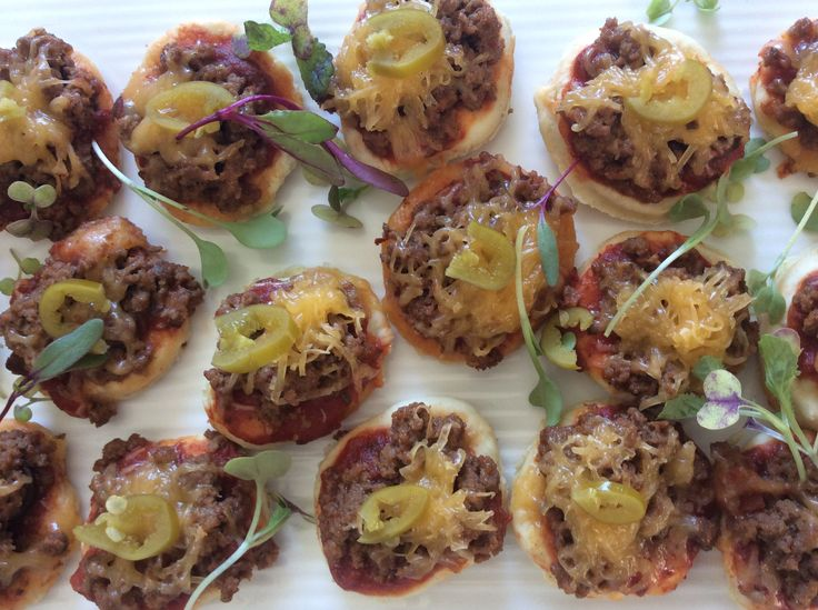 Mini Beef Mexican Pizza