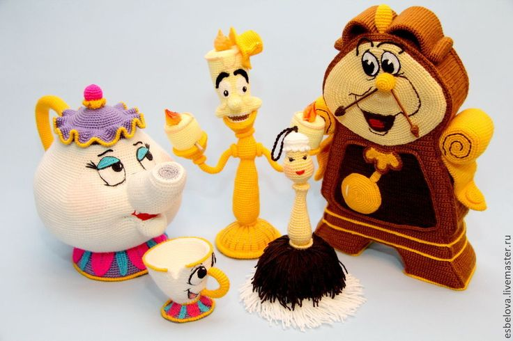 """Мастер-класс по вязанию героев м/ф """"Красавица и чудовище"""" - игрушка для детей"""