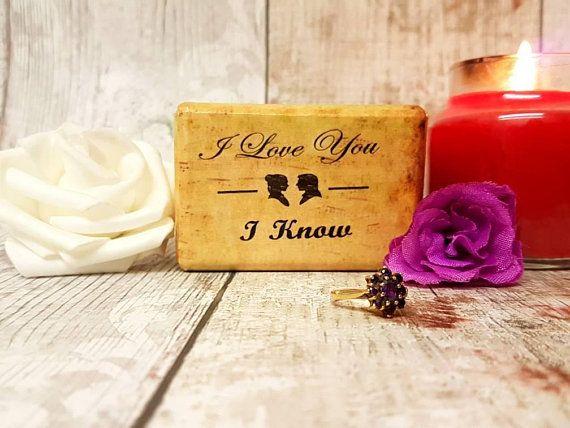 Wedding Ring Box – I Love You , I Know – Floral Double Ring Box – Wedding Ring Keepsake – Engagement Proposal Ring Box