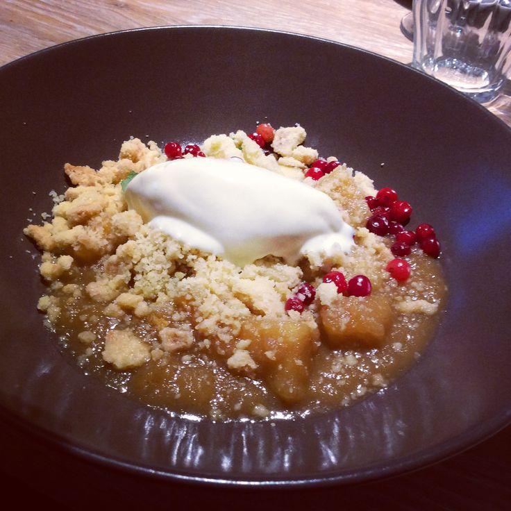 Excellent dessert at restaurant Kaks Kokka Tallinn