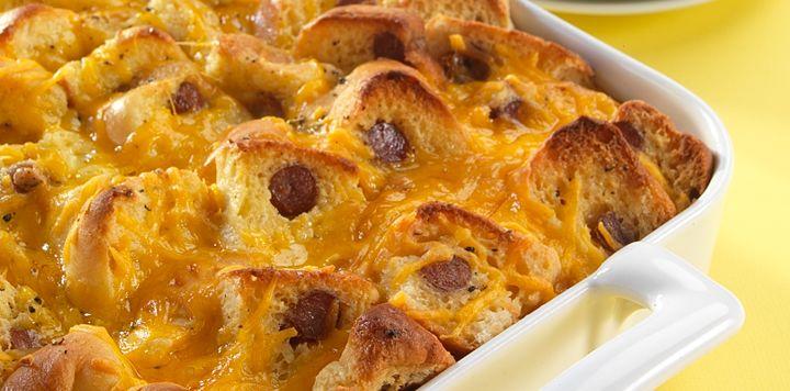 Sister Schubert's Sausage Roll Breakfast Casserole