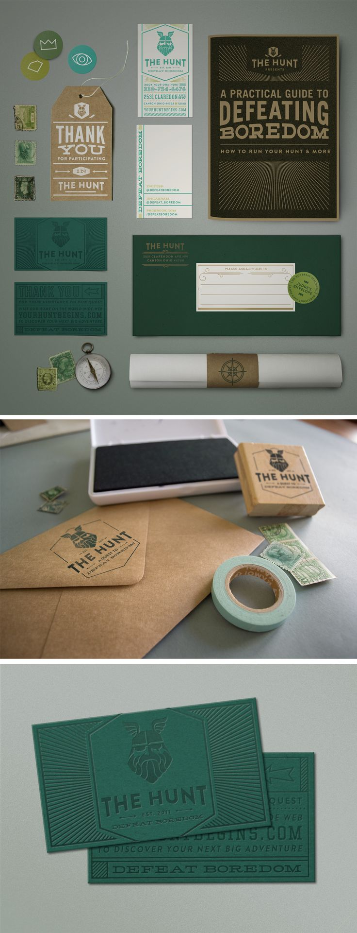 Classic, trendy work.  Great style for the brand! The Hunt Branding | by Imaginary Beast