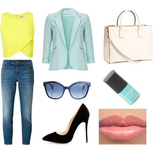 set wiosna 2 by innooka on Polyvore featuring moda, Miss Selfridge, Wallis, J Brand, H&M and Fendi