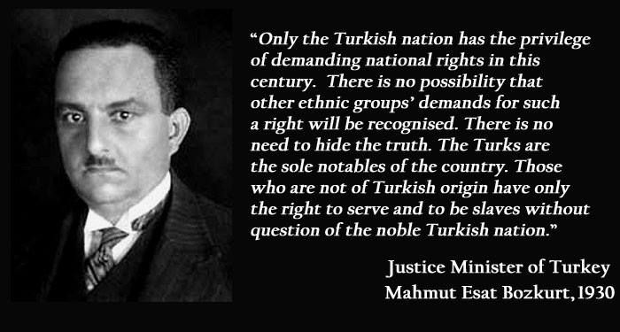 Very divisive comments from Turkey's justice minister. www.greek-genocide.net #GreekGenocide #TurkeyfortheTurks