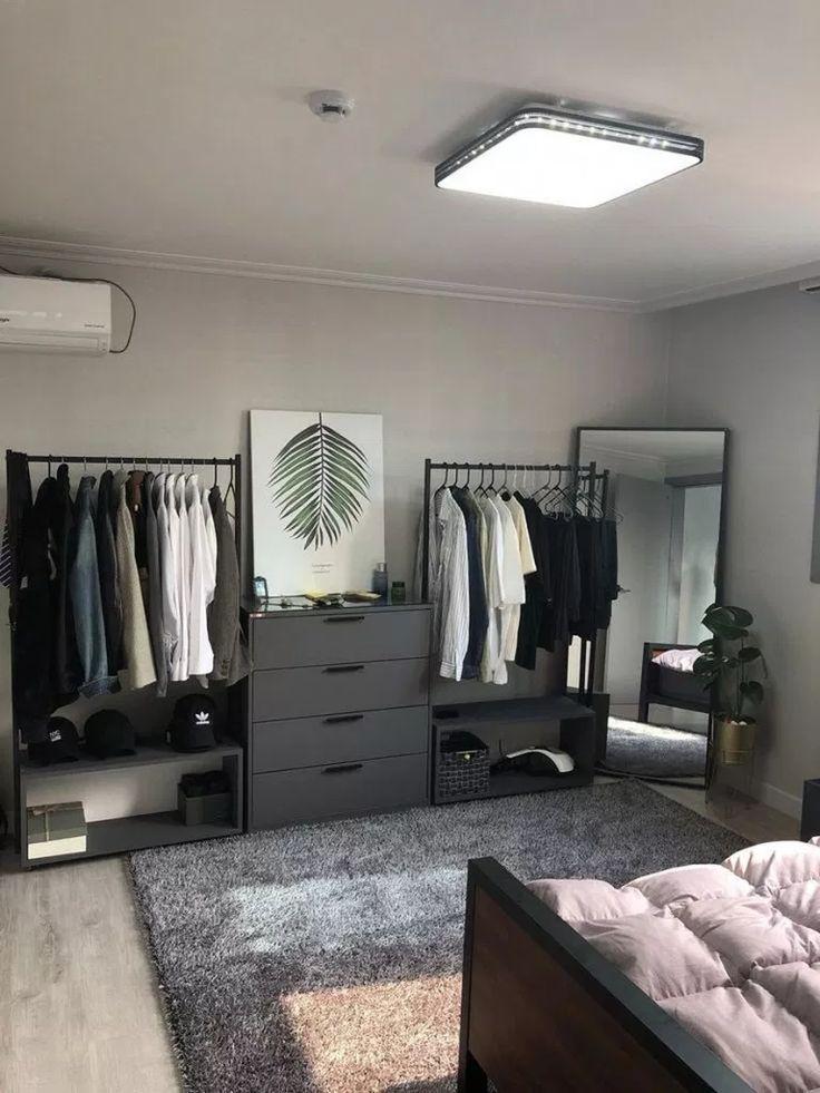 45 Creative Minimalist Bedroom Storage Ideas Bedroom Storage Minimalist B Mens Bedroom Decor Luxurious Bedrooms Room Design Bedroom Bedroom storage ideas mens