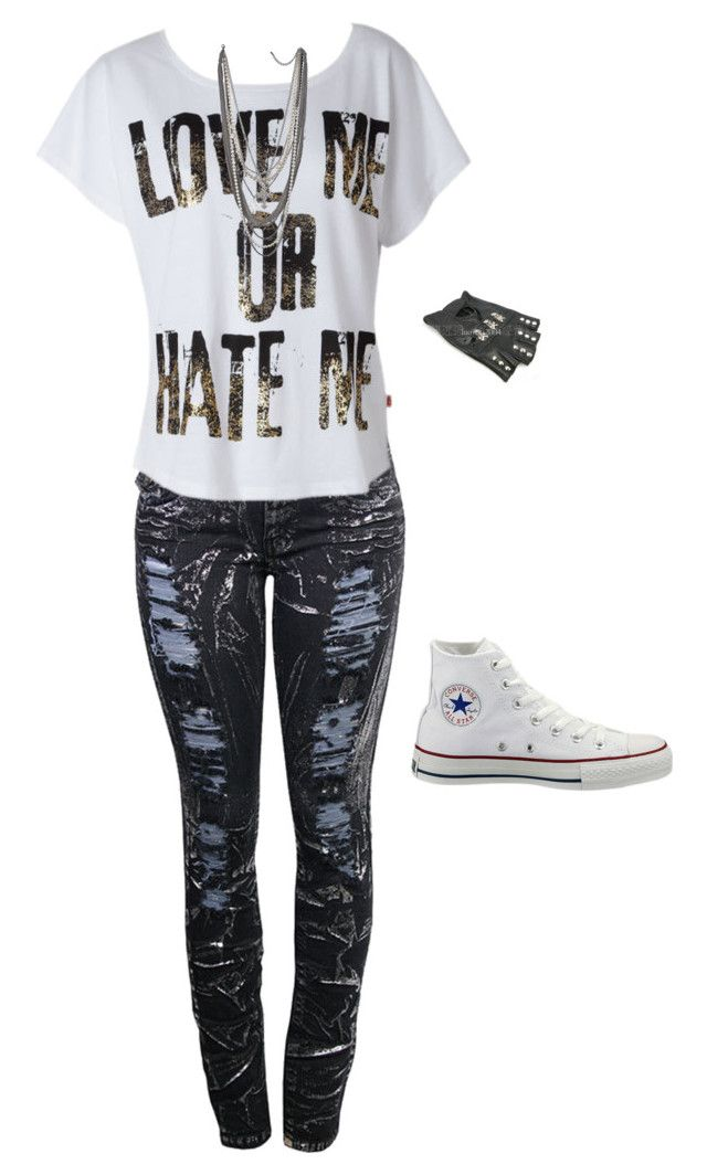 """""""Untitled #578"""" by death-to-your-heart ❤ liked on Polyvore featuring Converse"""
