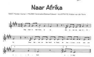Naar afrika, liedjes