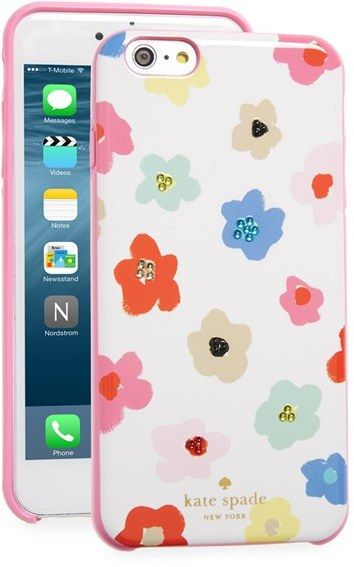 kate spade new york 'faye' crystal embellished floral iPhone 6 Plus & 6s Plus case