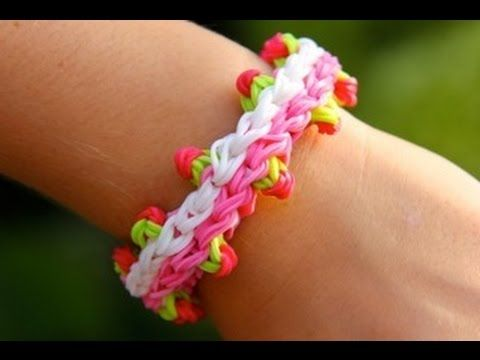 Rainbow Loom Nederlands - Dutch Tulip Bracelet (Original Design) - Loom bands - YouTube