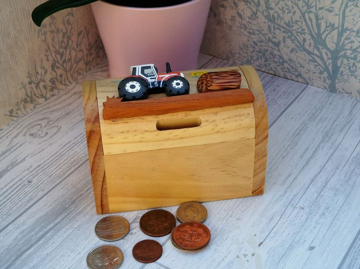 Childrens wooden money box personalised money box tractor money box treasure chest money box childrens birthday gift vehicle moneybox & 25+ unique Personalised money box ideas on Pinterest | Childrens ... Aboutintivar.Com