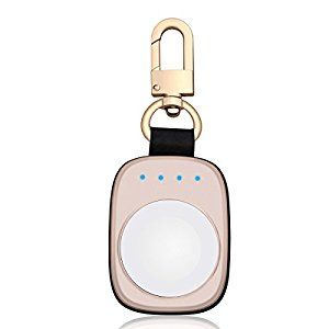 Amazon.com: FLAGPOWER Pocket Sized Travel Wireless Charger 700mAh Portable Smart Keychain Power Bank Power Charger Power Pack for iwatch Apple Watch Series 2/ Series 1/ Nike+ (Golden): Cell Phones & Accessories