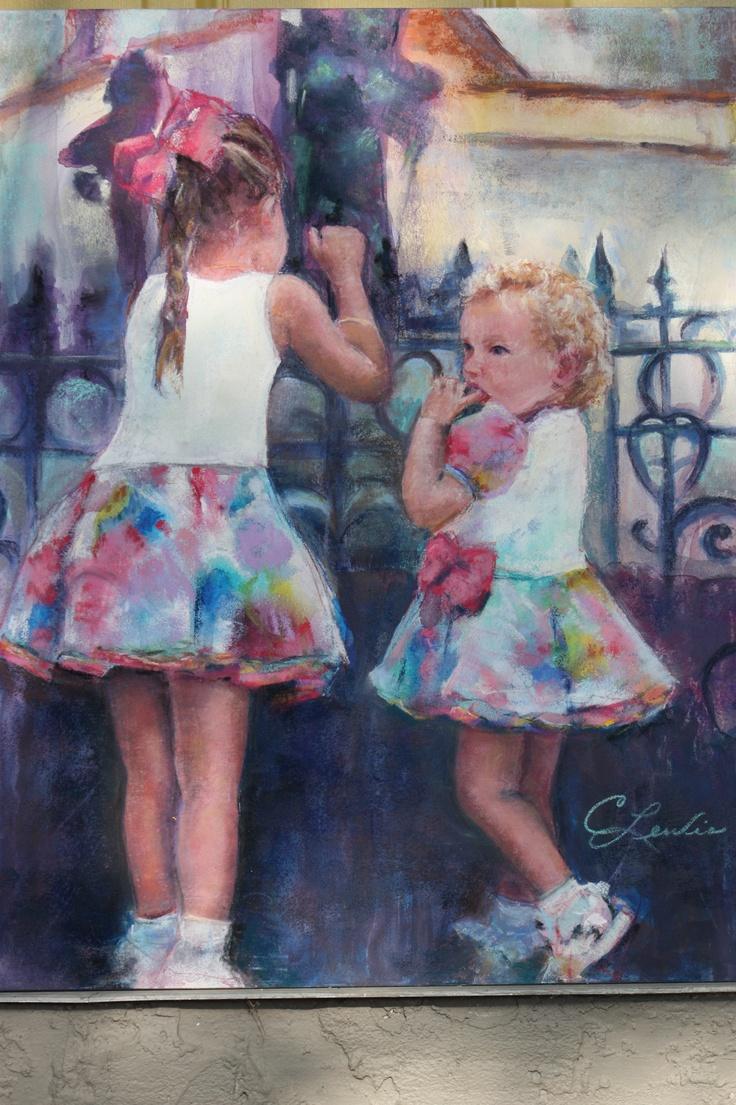 babycakes and precious pastel painting